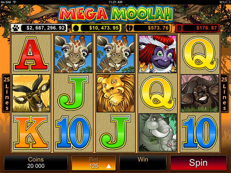 Mega Moolah 記号